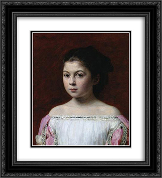 Marie-Yolande de Fitz-James 20x22 Black or Gold Ornate Framed and Double Matted Art Print by Henri Fantin Latour
