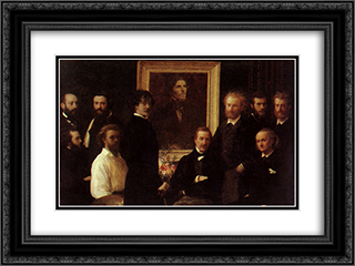 Homage to Delacroix 24x18 Black or Gold Ornate Framed and Double Matted Art Print by Henri Fantin Latour
