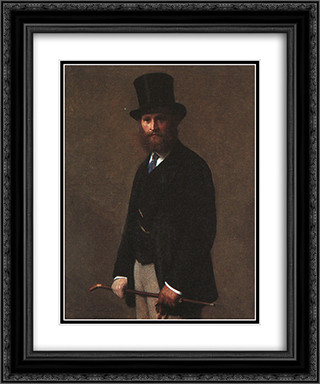 Portrait of Edouard Manet 20x24 Black or Gold Ornate Framed and Double Matted Art Print by Henri Fantin Latour