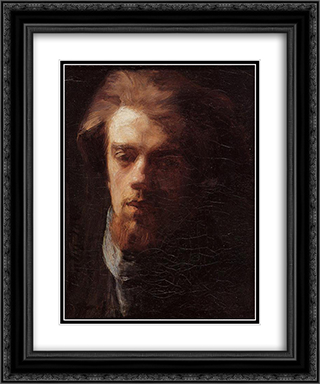 Self Portrait 20x24 Black or Gold Ornate Framed and Double Matted Art Print by Henri Fantin Latour