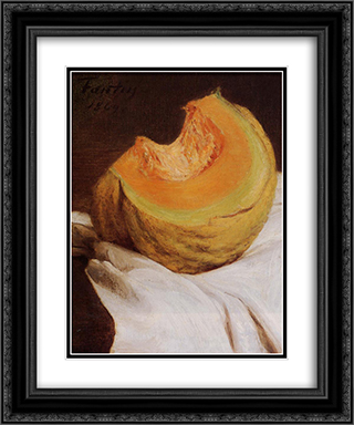 Still Life 20x24 Black or Gold Ornate Framed and Double Matted Art Print by Henri Fantin Latour