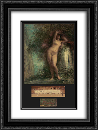 La Source 18x24 Black or Gold Ornate Framed and Double Matted Art Print by Henri Fantin Latour