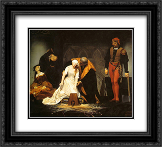 The Execution of Lady Jane Grey 22x20 Black or Gold Ornate Framed and Double Matted Art Print by Paul Delaroche