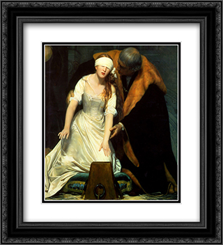 The Execution of Lady Jane Grey ' detail 20x22 Black or Gold Ornate Framed and Double Matted Art Print by Paul Delaroche