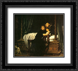 The children of King Edward imprisoned in the Tower 22x20 Black or Gold Ornate Framed and Double Matted Art Print by Paul Delaroche