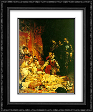 The Death of Elizabeth 20x24 Black or Gold Ornate Framed and Double Matted Art Print by Paul Delaroche