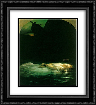 Young Christian Martyr 20x22 Black or Gold Ornate Framed and Double Matted Art Print by Paul Delaroche