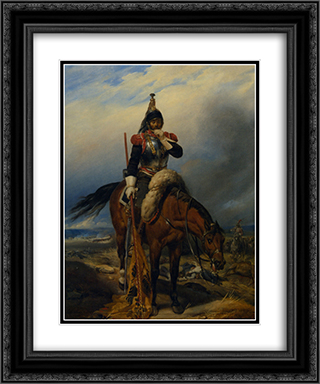 The Field of Battle 20x24 Black or Gold Ornate Framed and Double Matted Art Print by Paul Delaroche