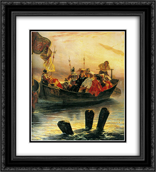 Cardinal Richelieu 20x22 Black or Gold Ornate Framed and Double Matted Art Print by Paul Delaroche