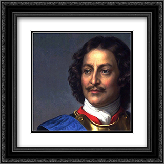 Peter the Great of Russia ' detail 20x20 Black or Gold Ornate Framed and Double Matted Art Print by Paul Delaroche
