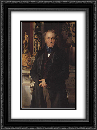 Portrait 18x24 Black or Gold Ornate Framed and Double Matted Art Print by Paul Delaroche