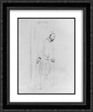 Pencil Study III 20x24 Black or Gold Ornate Framed and Double Matted Art Print by Paul Delaroche