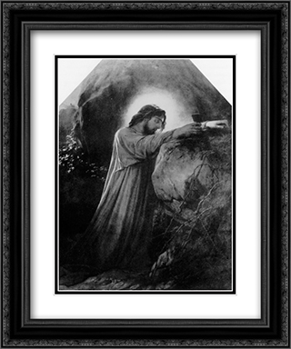 Christ on the Mount of Olives 20x24 Black or Gold Ornate Framed and Double Matted Art Print by Paul Delaroche