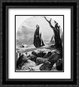 Christ in the garden of Gethsemane 20x22 Black or Gold Ornate Framed and Double Matted Art Print by Paul Delaroche