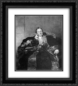 Portrait of a Marquise 20x22 Black or Gold Ornate Framed and Double Matted Art Print by Paul Delaroche