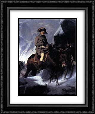 Bonaparte Crossing the Alps 20x24 Black or Gold Ornate Framed and Double Matted Art Print by Paul Delaroche