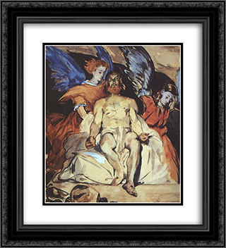 Christ with Angels 20x22 Black or Gold Ornate Framed and Double Matted Art Print by Edouard Manet