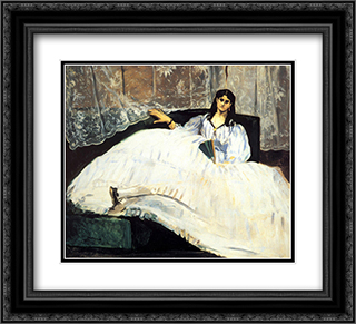 Baudelaire's Mistress Reclining 22x20 Black or Gold Ornate Framed and Double Matted Art Print by Edouard Manet