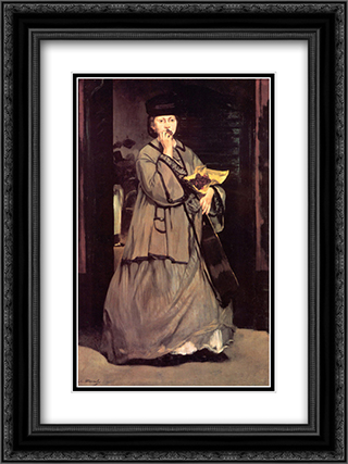 The Street Singer 18x24 Black or Gold Ornate Framed and Double Matted Art Print by Edouard Manet