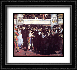 Masked Ball at the Opera 22x20 Black or Gold Ornate Framed and Double Matted Art Print by Edouard Manet