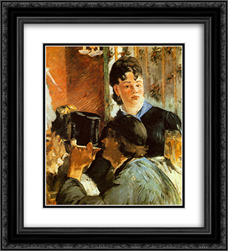 The Waitress 20x22 Black or Gold Ornate Framed and Double Matted Art Print by Edouard Manet