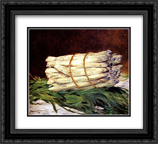A Bunch Of Asparagus 22x20 Black or Gold Ornate Framed and Double Matted Art Print by Edouard Manet