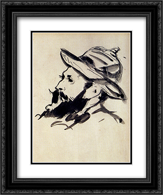 Had Of A Man (Claude Monet) 20x24 Black or Gold Ornate Framed and Double Matted Art Print by Edouard Manet
