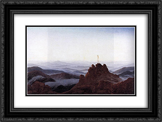 Morning in the Riesengebirge 24x18 Black or Gold Ornate Framed and Double Matted Art Print by Caspar David Friedrich