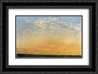 Evening 24x18 Black or Gold Ornate Framed and Double Matted Art Print by Caspar David Friedrich