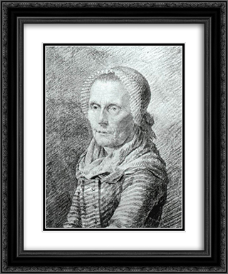 Mother Heiden 20x24 Black or Gold Ornate Framed and Double Matted Art Print by Caspar David Friedrich