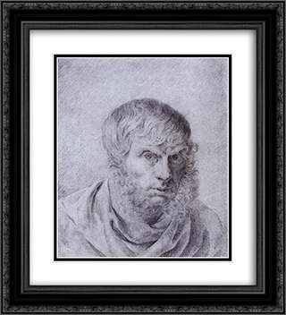 Self'Portrait 20x22 Black or Gold Ornate Framed and Double Matted Art Print by Caspar David Friedrich