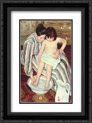 The Bath 18x24 Black or Gold Ornate Framed and Double Matted Art Print by Mary Cassatt