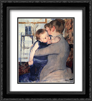 Mother And Child 20x22 Black or Gold Ornate Framed and Double Matted Art Print by Mary Cassatt