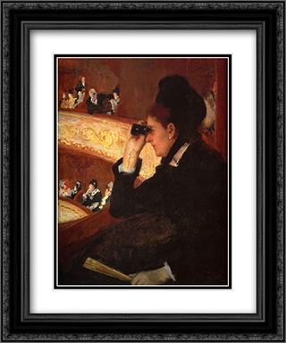 At The Opera 20x24 Black or Gold Ornate Framed and Double Matted Art Print by Mary Cassatt