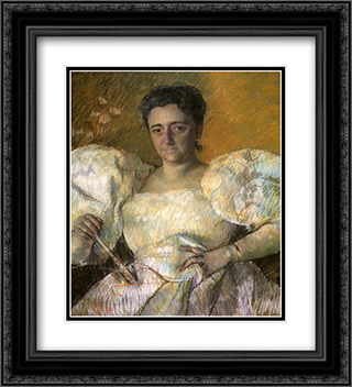 Louisine W. Havemeyer 20x22 Black or Gold Ornate Framed and Double Matted Art Print by Mary Cassatt
