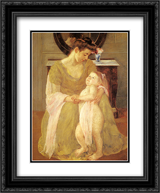 Mother And Child 20x24 Black or Gold Ornate Framed and Double Matted Art Print by Mary Cassatt