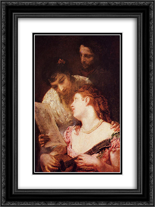 A Musical Party 18x24 Black or Gold Ornate Framed and Double Matted Art Print by Mary Cassatt