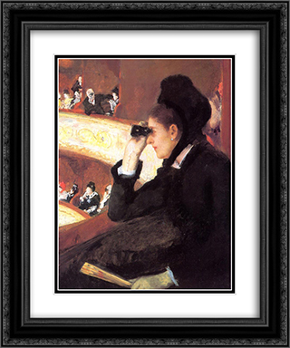 At the Francais, a Sketch 20x24 Black or Gold Ornate Framed and Double Matted Art Print by Mary Cassatt