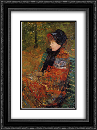 Autumn 18x24 Black or Gold Ornate Framed and Double Matted Art Print by Mary Cassatt
