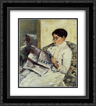 Portrait of a Lady 20x22 Black or Gold Ornate Framed and Double Matted Art Print by Mary Cassatt