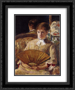 Portrait of a Lady 20x24 Black or Gold Ornate Framed and Double Matted Art Print by Mary Cassatt
