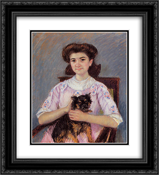Portrait of Marie'Louise Durand'Ruel 20x22 Black or Gold Ornate Framed and Double Matted Art Print by Mary Cassatt