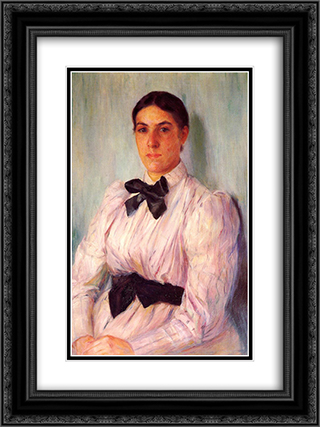 Portrait of Mrs. William Harrison 18x24 Black or Gold Ornate Framed and Double Matted Art Print by Mary Cassatt