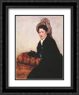 Portrait of a Woman Dressed for Matinee 20x24 Black or Gold Ornate Framed and Double Matted Art Print by Mary Cassatt