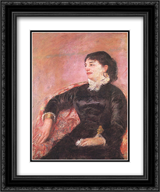 Portrait of an Italian Lady 20x24 Black or Gold Ornate Framed and Double Matted Art Print by Mary Cassatt