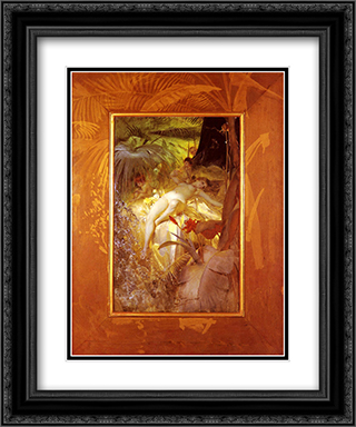 Karleksnymf 20x24 Black or Gold Ornate Framed and Double Matted Art Print by Anders Zorn