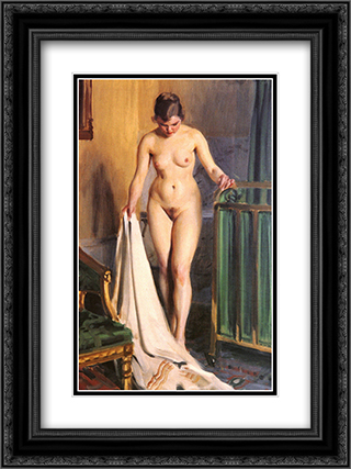 I Sangkammaren 18x24 Black or Gold Ornate Framed and Double Matted Art Print by Anders Zorn