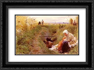 Our daily bread 24x18 Black or Gold Ornate Framed and Double Matted Art Print by Anders Zorn