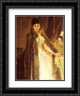 Mrs. Symons 20x24 Black or Gold Ornate Framed and Double Matted Art Print by Anders Zorn
