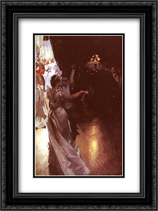 Valsen 18x24 Black or Gold Ornate Framed and Double Matted Art Print by Anders Zorn